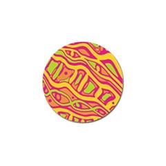 Orange hot abstract art Golf Ball Marker
