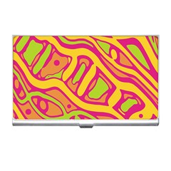 Orange hot abstract art Business Card Holders