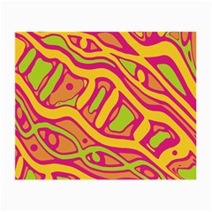 Orange hot abstract art Small Glasses Cloth