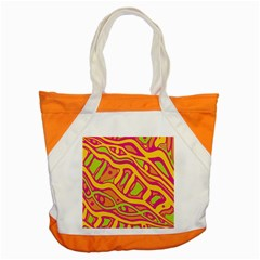 Orange hot abstract art Accent Tote Bag