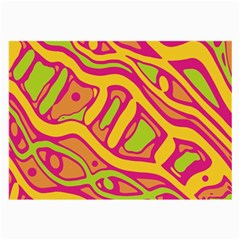 Orange hot abstract art Large Glasses Cloth (2-Side)