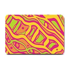 Orange hot abstract art Small Doormat