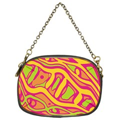 Orange hot abstract art Chain Purses (One Side)