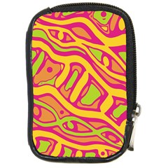 Orange hot abstract art Compact Camera Cases