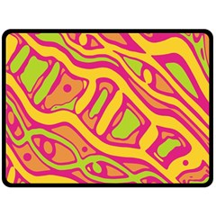 Orange hot abstract art Fleece Blanket (Large)