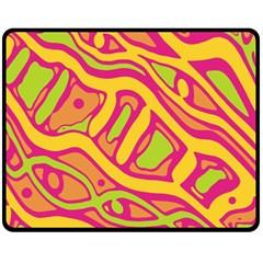 Orange hot abstract art Fleece Blanket (Medium)