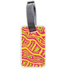 Orange hot abstract art Luggage Tags (One Side)