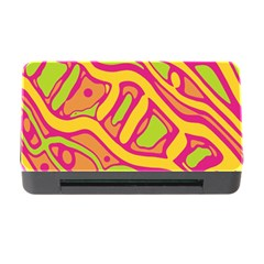 Orange hot abstract art Memory Card Reader with CF