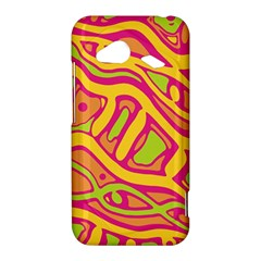Orange hot abstract art HTC Droid Incredible 4G LTE Hardshell Case