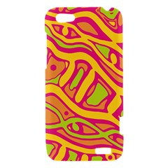 Orange hot abstract art HTC One V Hardshell Case