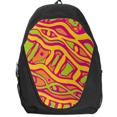 Orange hot abstract art Backpack Bag