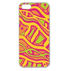 Orange hot abstract art Apple Seamless iPhone 5 Case (Clear)