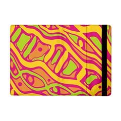 Orange hot abstract art Apple iPad Mini Flip Case