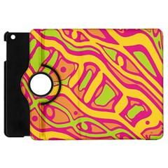 Orange hot abstract art Apple iPad Mini Flip 360 Case
