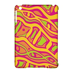 Orange hot abstract art Apple iPad Mini Hardshell Case (Compatible with Smart Cover)