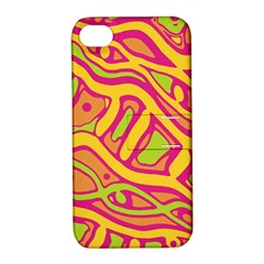 Orange hot abstract art Apple iPhone 4/4S Hardshell Case with Stand