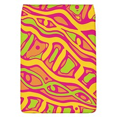 Orange hot abstract art Flap Covers (L)