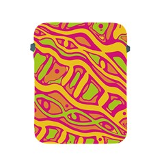 Orange hot abstract art Apple iPad 2/3/4 Protective Soft Cases