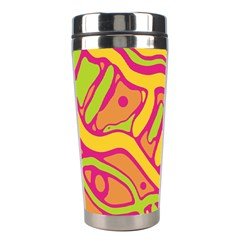 Orange hot abstract art Stainless Steel Travel Tumblers
