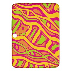 Orange hot abstract art Samsung Galaxy Tab 3 (10.1 ) P5200 Hardshell Case