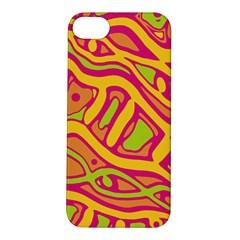 Orange hot abstract art Apple iPhone 5S/ SE Hardshell Case