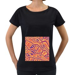 Orange decorative abstract art Women s Loose-Fit T-Shirt (Black)