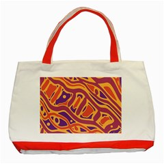 Orange decorative abstract art Classic Tote Bag (Red)