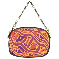 Orange decorative abstract art Chain Purses (Two Sides)
