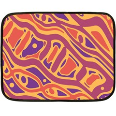 Orange decorative abstract art Fleece Blanket (Mini)