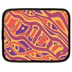 Orange decorative abstract art Netbook Case (XXL)
