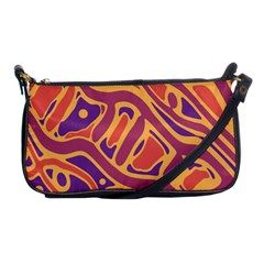 Orange decorative abstract art Shoulder Clutch Bags