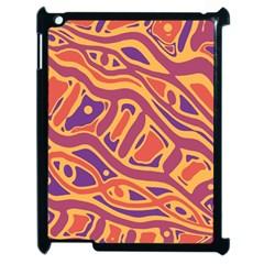 Orange decorative abstract art Apple iPad 2 Case (Black)