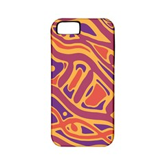 Orange decorative abstract art Apple iPhone 5 Classic Hardshell Case (PC+Silicone)
