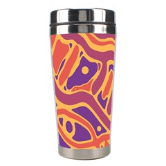 Orange decorative abstract art Stainless Steel Travel Tumblers