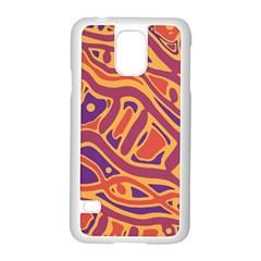 Orange decorative abstract art Samsung Galaxy S5 Case (White)