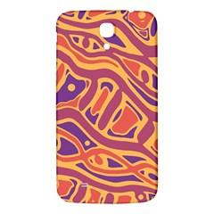 Orange decorative abstract art Samsung Galaxy Mega I9200 Hardshell Back Case