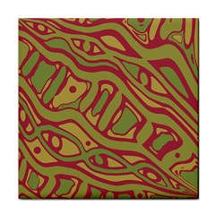 Brown abstract art Tile Coasters