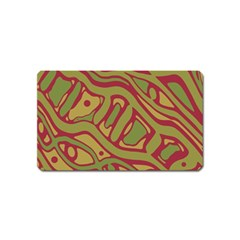 Brown abstract art Magnet (Name Card)