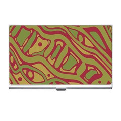 Brown abstract art Business Card Holders