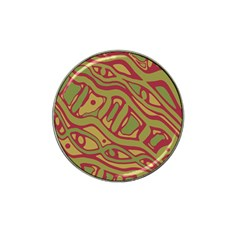 Brown abstract art Hat Clip Ball Marker (10 pack)