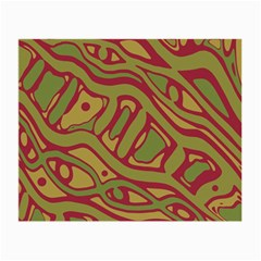 Brown abstract art Small Glasses Cloth (2-Side)