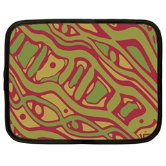 Brown abstract art Netbook Case (Large)