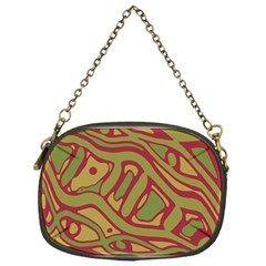 Brown abstract art Chain Purses (One Side)