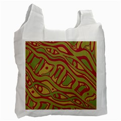 Brown abstract art Recycle Bag (One Side)