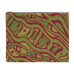 Brown abstract art Cosmetic Bag (XL)