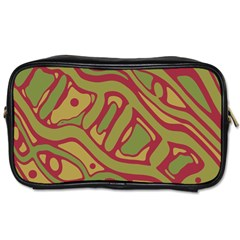Brown abstract art Toiletries Bags
