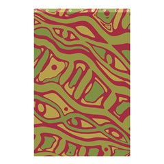 Brown abstract art Shower Curtain 48  x 72  (Small)