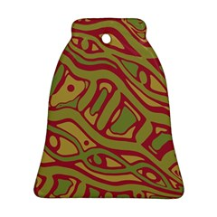 Brown abstract art Ornament (Bell)