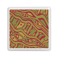 Brown abstract art Memory Card Reader (Square)