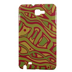 Brown abstract art Samsung Galaxy Note 1 Hardshell Case